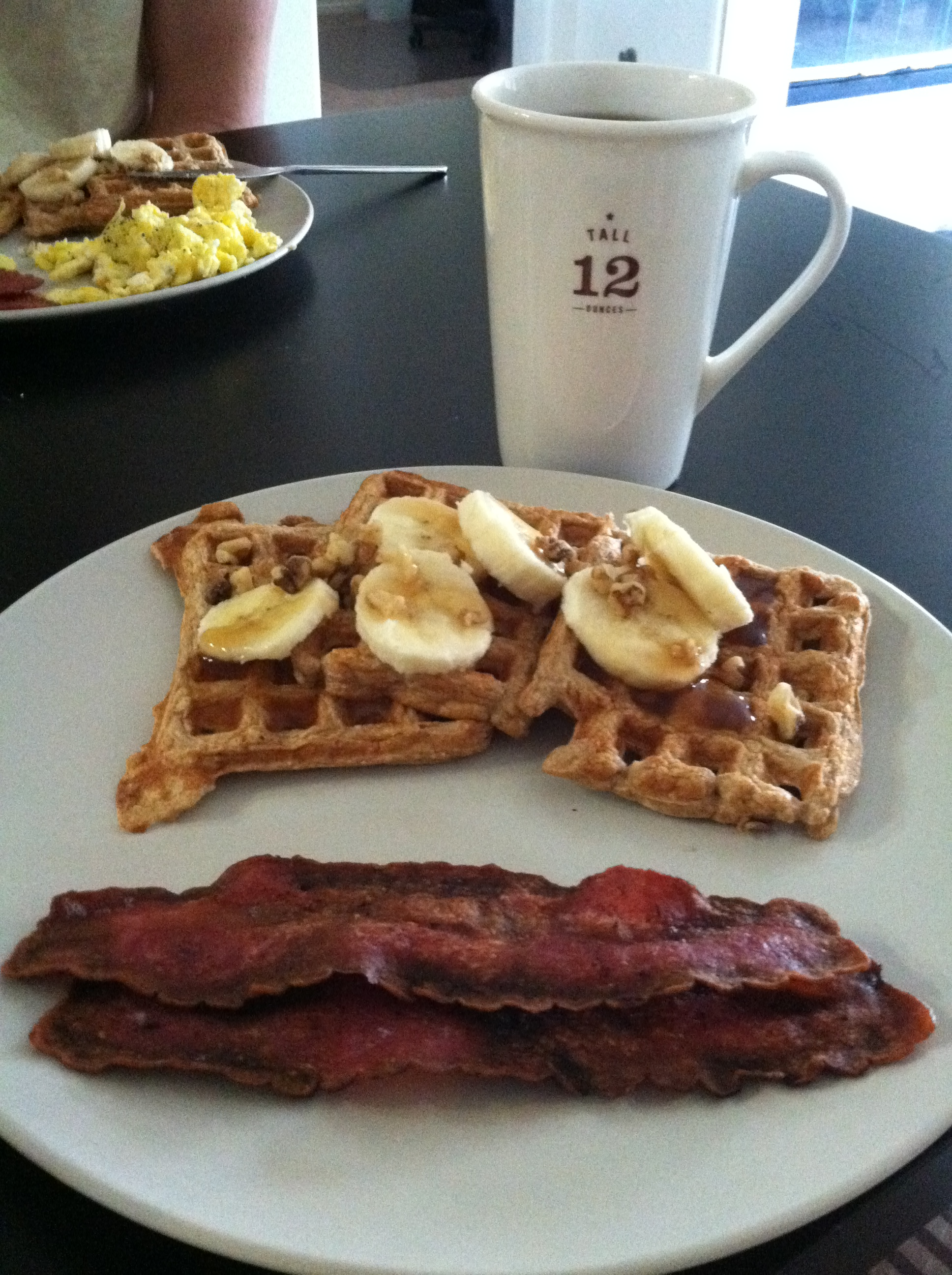 Fantastically Fit | Banana Nut Protein Waffles!