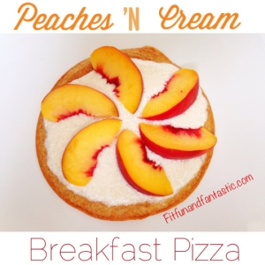Peaches N Cream Breakfast Pizza