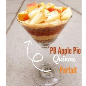 PB Apple Pie Quinoa Parfait