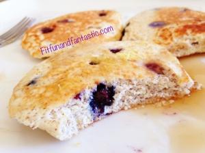 Flourless Bluebery Lemon Pancakes