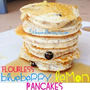 Flourless Blueberry Lemon Pancakes