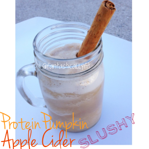 Protein Pumpkin Apple Cider Slushy