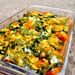 Butternut squash & creamy spinach casserole
