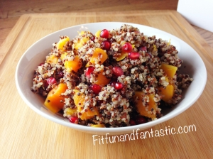 Pomegranate Butternut Squash Quinoa