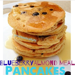 Blueberry Almond Meal Pancakes