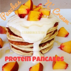 Peaches N' Cream Protein Pancakes
