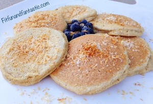 Toasted Coconut Oat Bran Pancakes