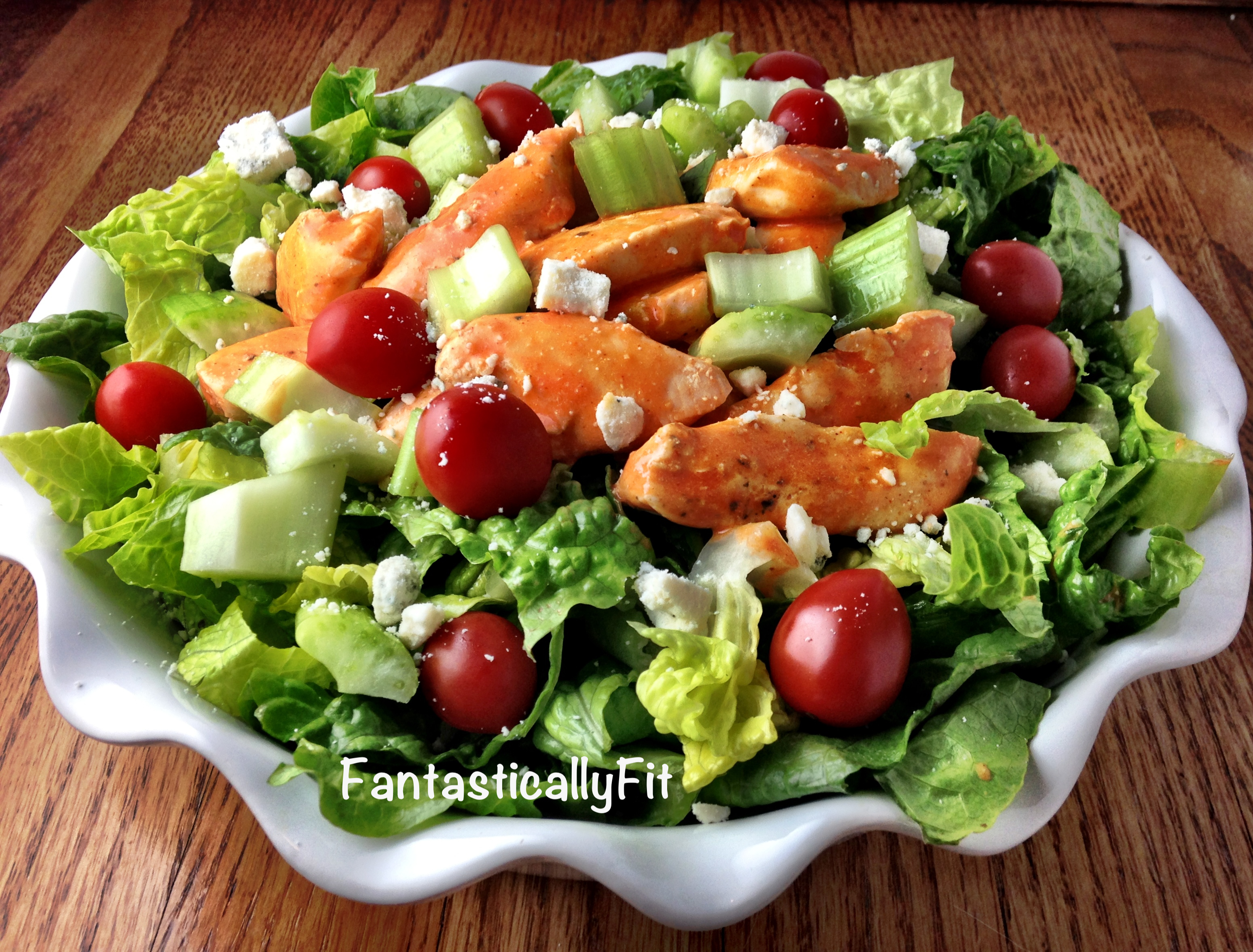 Fantastically Fit Buffalo Hot Wing Chicken Salad