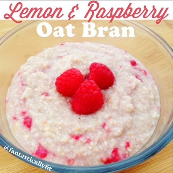 Lemon Raspberry Oat Bran