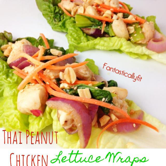 Fantastically Fit | Thai Peanut Chicken Lettuce Wraps