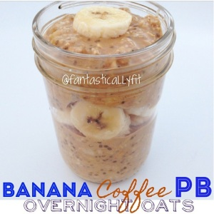 Banana Coffee PB Overnight Oats