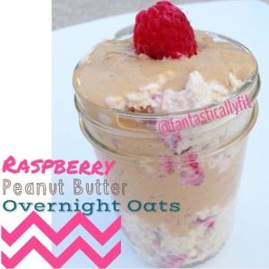 Raspberry PB Overnight Oats